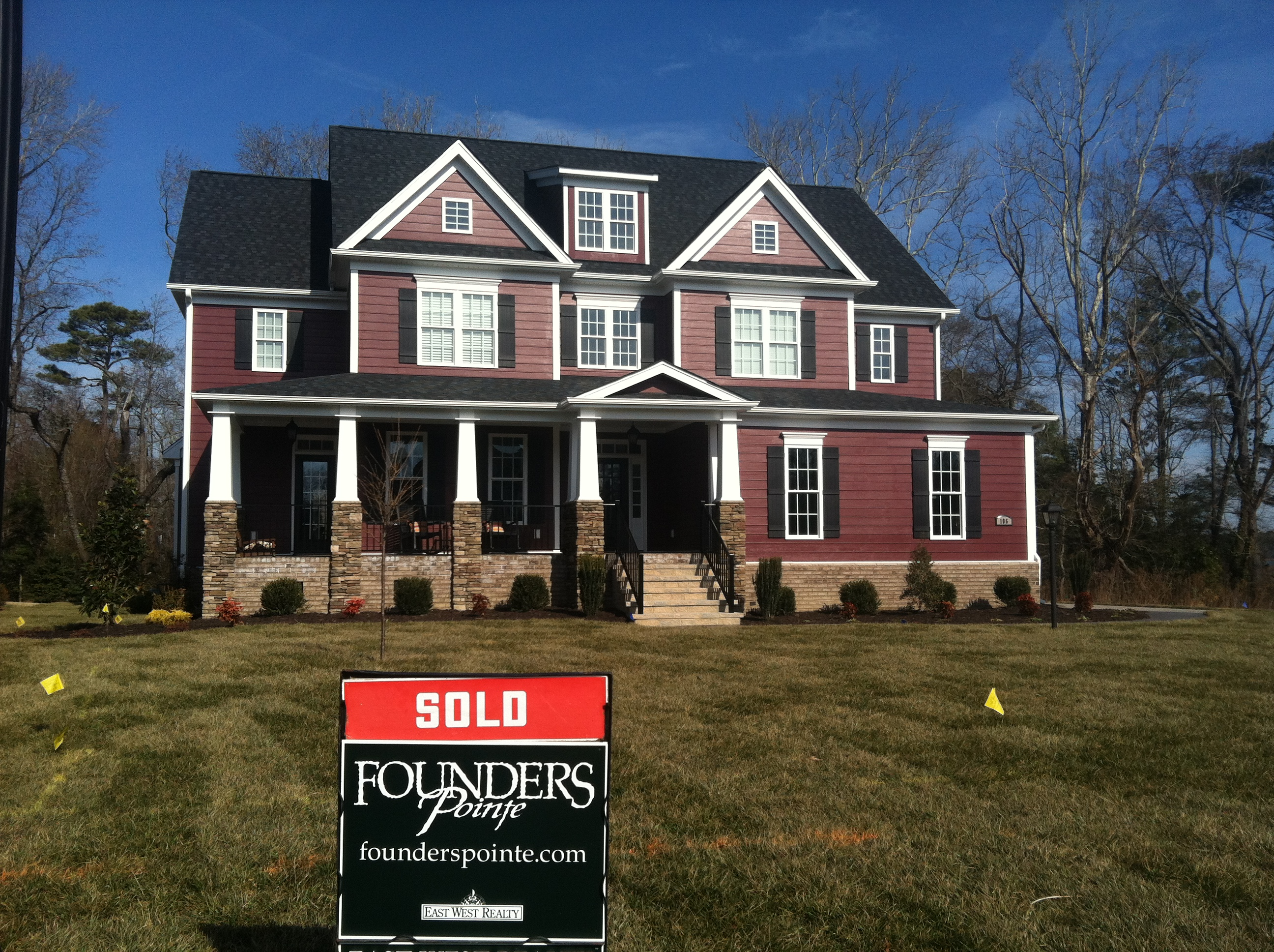 New home sales are up at founders pointe founders pointe for Home builders in west virginia