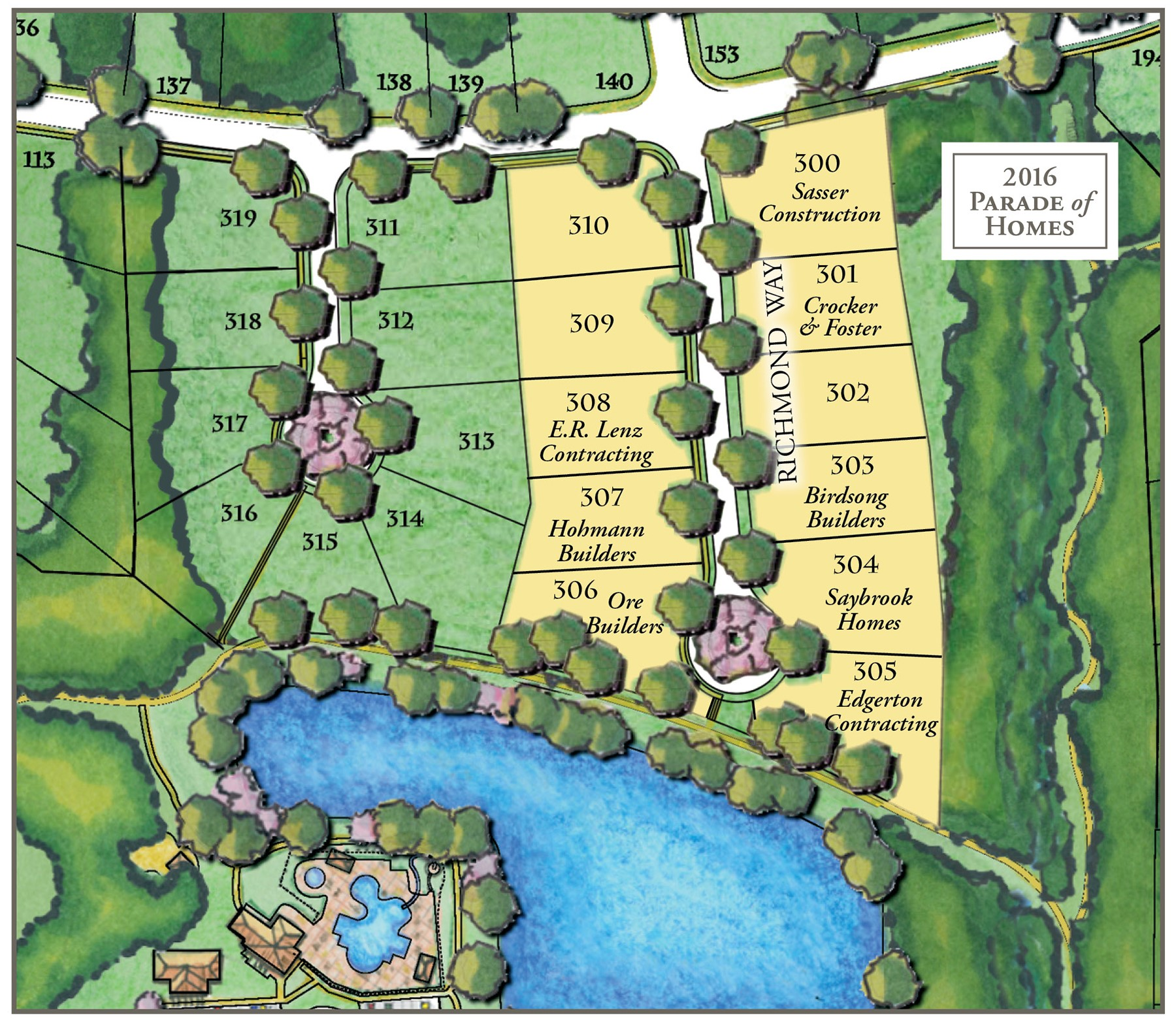 PARADE of HOMES Site Map